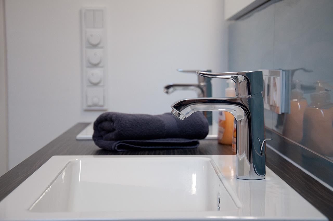 Doppelwaschbecken im Luxus-Bad